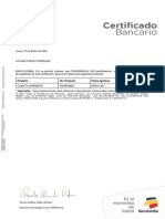 CERTIFICACION BANCARIA PRINCIPAL 27 ENERO 2020