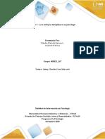 Tarea 3. – Los enfoques disciplinares en psicología _Grupo 167