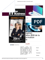 [Infographie] Baromètre 2020 de la Transformation Digitale
