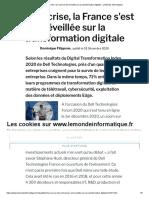 Avec la crise, la France s'est réveillée sur la transformation digitale - Le Monde Informatique