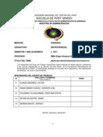 Mercado Microfinanciero en Huancayo