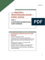O PRINCÍPIO RESPONSABILIDADE HANS JONAS