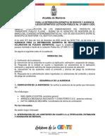 ACTA DE AUDIENCIA DE RIESGOS