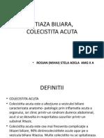 LITIAZA BILIARA,