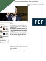 18.09.2020 Ildefonso Guajardo se 'destapa' para la contienda electoral en Nuevo León
