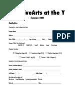 Creative Arts Application PDF
