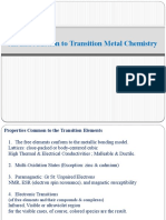 11 Intro Transition Metal Chem