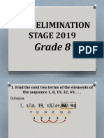 MMC 2019 GRADE 8 DIVISION ELIMINATION ROUND QUESTIONS WITH SOLUTIONS PPT