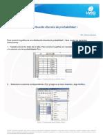 Gráfica de una distribución discreta de probabilidad 1
