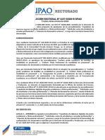 RR 1137.2020 aprobar los procedimientos de secretaría general 19 OCT