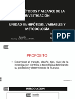 11. UNIDAD III - Metodología, población y muestra - PARTE I