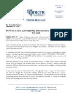 PUA Ineligibility Determinations
