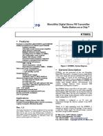Datasheet KT0803L