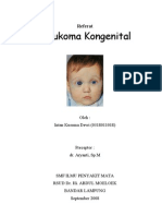 Referat GLAUKOMA KONGENITAL