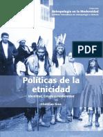Gros--Politicas de la etnicidad identidad estado y modernidad