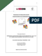 PROYECTO AULAS DEMOCRATICAS I.E. Andrés Avelino Aramburú