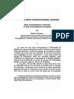 Etudes de Droit Constitutionnel Compare Droit Constitutionnel Americain Et Droit Constitutionnel Europeen (1)