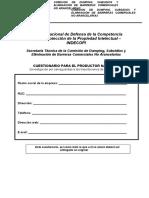 Cuestionario productores nacionales salvaguardias