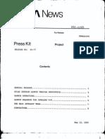 Intelsat V-F Press Kit