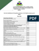 Liste Ecoles de Formation en Sante reconnues par le MSPP 11 Mars 2014.pdf