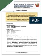 01. TDR-10 COMUNIDADES SDANEAMIENTO