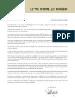 Lettre ouverte aux Nouméens de Sonia Lagarde - Noël 2020