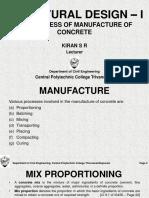 3 Manufacture of Concrete