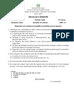 PROVA  DE FÍSICA DA 10ª CLASSE 2020 -B