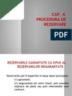Cap 4 procedura de rezervare
