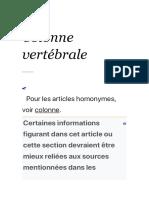 Colonne vertébrale — Wikipédia