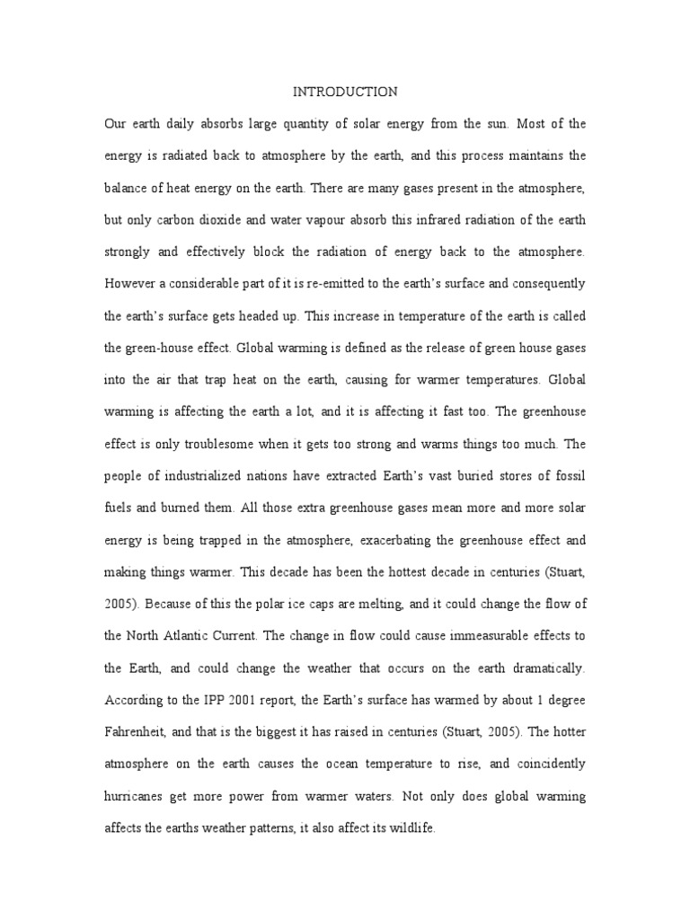 global warming essay for students