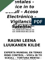 Caso de Acoso Electronico - Voice in to Sckull - Tortura Mental