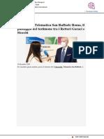 Telematica San Raffaele, insediato il nuovo rettore Stocchi - Il Tempo.it, 10 dicembre 2020