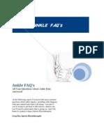 Ankle FAQ's