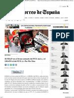 El FRAP era el brazo armado del PCE (m-l), y el GRAPO el del PCE (r). Por Pío MoaEl Correo de España