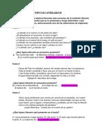 Tópicos literarios - Lengua 1º Bachiller