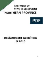 Development Activities in 2010 - Department of Co-Operative Development