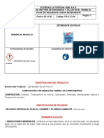 Ficha de Seguridad del Detergente En Polvo