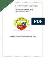 PLAN DE ACCION 2020 MARIA AUXILIADORA PDF JORNADA DE LA TARDE