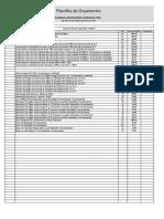 planilha-orçamento Modelo