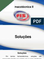 Aula 4 EAD - Farmacotécnica II - Soluções