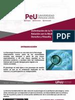 Delimitación de la Psicología forense, Relación con la Medicina, Psiquiatría,Derecho y Filosofía