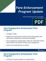 Sound Transit - Fare Enforcement Update -  December 2020