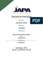 Trabajo Final   Ética profesional del psicólogo Jose Martin Salazar