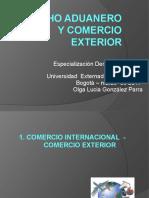 DERECHO ADUANERO Y COMERCIO EXTERIOR