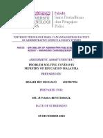 UNIVESITI TEKNOLOGI MARA CAWANGAN KEDAH FACULTY OF ADMINISTRATIVE SCIENCE.docx