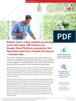 Achieve faster online analytics processing work with newer VM instances for Google Cloud Platform powered by 2nd Generation Intel Xeon Scalable Processors – Cascade Lake