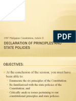 (F) Declaration of principles and state policies