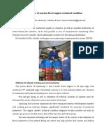 DEPAS'2009 Diagnostics of marine diesel engines technical condition
