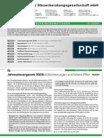 LHV Steuerberatung Steuerinformation Landwirtschaft Q4 2020